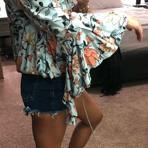 ANGL Tops - Angl OTS Floral Top - Small